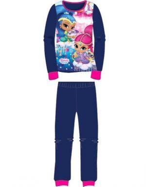 Blå Shimmer and Shine Pyjamas i Fleece till Barn