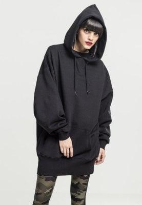 Svart oversize hoodie dam